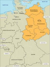 east germany west germany map