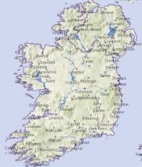 mapa irlandii