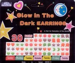 glow in the dark earring