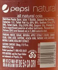 pepsi ingredient
