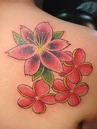 japanese flower tattoo design