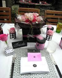 pink and black bridal shower