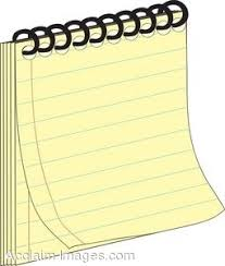 notebook paper clipart