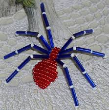 blue and red spider