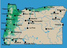 oregon weather map