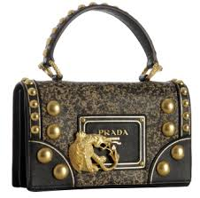 prada black leather handbags