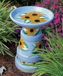 blue birdbaths