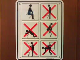 instruction signs