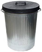 galvanised bin