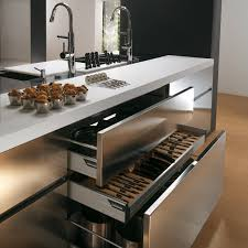 stainless steel kitchen cupboards