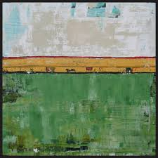 green abstract paintings