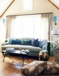 brown blue living room