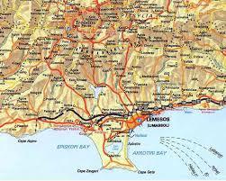 ayia napa cyprus map