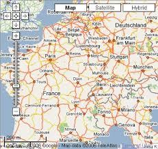 google maps of europe