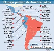 mapa politico de latinoamerica
