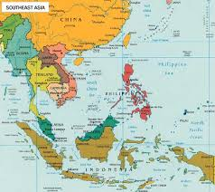 east and southeast asia map