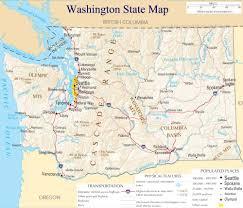 map of wa state