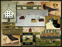 folk art wallpaper