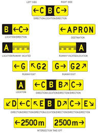 airport taxiway signs