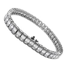emerald diamond tennis bracelet