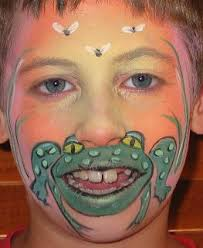 face painting frog