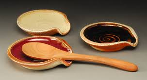 pottery spoon rest