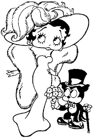 coloring pictures of betty boop