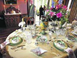 formal dining table setting