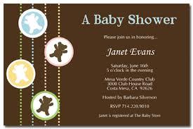 bear baby shower invitations