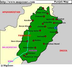 pakistan map punjab