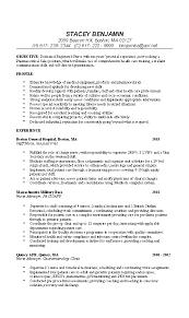 sample resume nurses