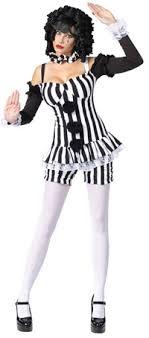 black and white clown costume