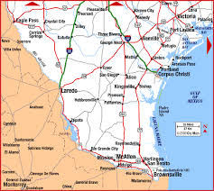 map south texas