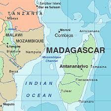 africa madagascar map