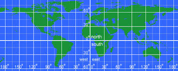 world map lat lon