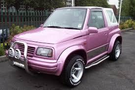 pink suzuki vitara