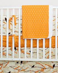 orange crib bumper