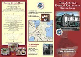 brochure of hotel
