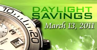 Daylight Savings Time is March