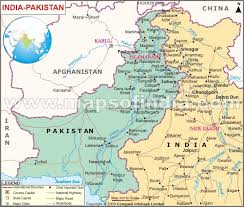 india and pakistan map