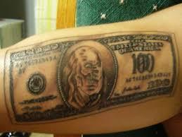 100 dollar bill tattoos