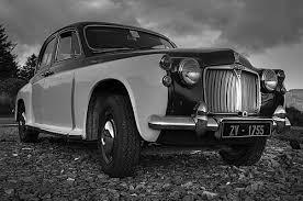black and white car photos