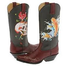 ed hardy cowboy boots