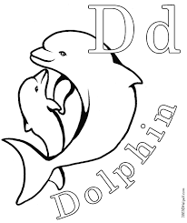 dolphin picture to color