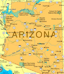 map of arizona with cities
