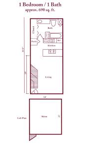 loft apartment plan