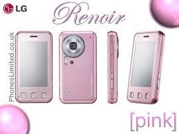 pink touchscreen phones