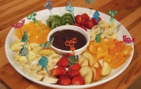 fondue fruits