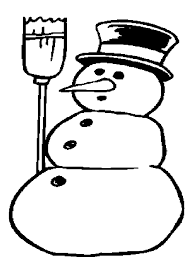 free snowman coloring pages