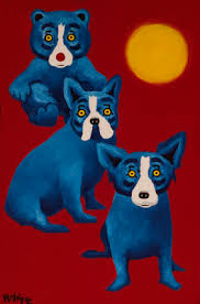blue dog man